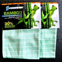 eccoGREEN 2x Bambou Intensivtücher Nettoyage sans Rayures Antibactérien