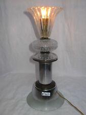 LAMPE DESIGN ANNÉES 60/70 MÉTAL CHROMÉ ET VERRE-VINTAGE GLASS LAMP-N°B63