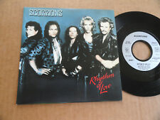 "DISQUE 45T DE SCORPIONS   "" RHYTHM OF LOVE  """