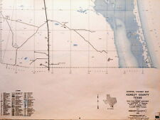 Old Original  Kenedy County Texas State Highway Department Map King Ranch