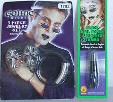 Covenant Gothic Vampire Emo Punk Jewelry RIng, Necklace Bracelet +Lip/Nail v2