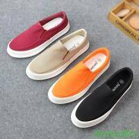 New Mens Loafers Shoes Sneakers Canvas Slip On Plimsolls Flats Breathable Casual