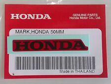 HONDA Marco 50mm rojo / Negro Pegatina Logo Placa 100% ORIGINAL