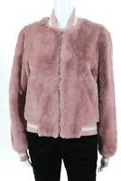 Elizabeth and James Womens Ellington Bomber Jacket Pink Size Small 10499159