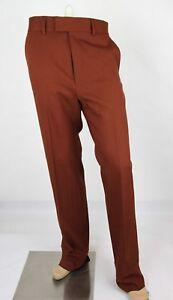 New Gucci Men's Dark Brown Orange 70s Twill Stretch Formal Pant 398954 2189