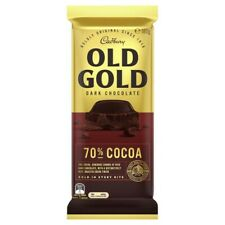 NEW Cadbury Tasty Old Gold Smooth & Rich Dark Chocolate Block 70% Cocoa 180g
