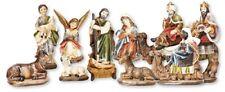 Xmas Nativity Set Traditional Christmas Figures Decoration 7 cm Multicolour