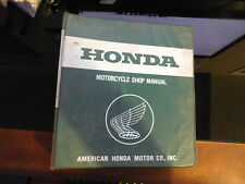 "Vintage 2"" Honda Factory Dealer American Motorcycle Shop Manual 7 Ring Binder"