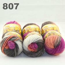 Sale Lot of 6Ballsx50g New Chunky Hand-woven Colors Knitting Scores wool yarn 07