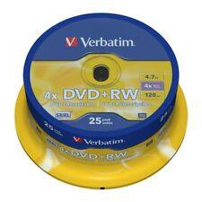 DVD+RW 4x Verbatim Tarrina 25 uds