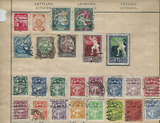 EUROPE--MIXED COUNTRIES--SOME ON PAGES-USED-FINE INTACT-MANY BETTER-1050