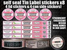 RX Medical Cannabis STRAWBERRY CHEESECAKE Labels Stickers Marijuana weed CALI