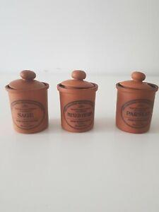 3 x Henry Watson Pottery Storage