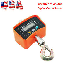 US STOCK 500KG / 1100LBS Digital Crane Scale Heavy Duty Hanging Scale + Adapter