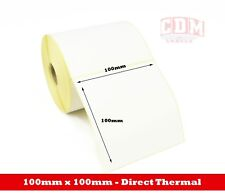 10,000 - 100 x 100mm Direct Thermal Labels - Citizen, Toshiba, Zebra Printers