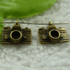 free ship 220 pieces bronze plated camera charms 15x14mm #3879