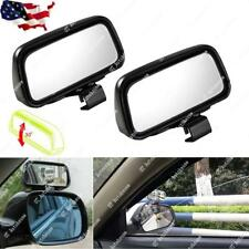 2x Rectangle Wide Adjustable Angle Convex Half Oval Rearview Blind Spot Mirrors
