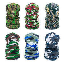 6-Pack Adult Camouflage Tube Bandana, Neck Gaiter, Multipurpose Face Cover