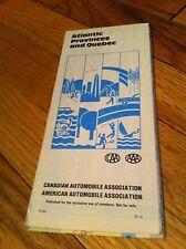 1981 Atlantic Provinces And Quebec Canadian/American Automobile Association Map