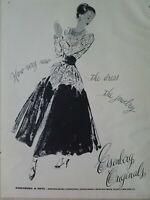 1948  Eisenberg Originals women's dress and jewelry vintage fashion art ad
