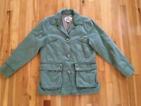Woolrich Womens XS Barn Field Canvas Jacket Coat Sage Green Lightweight Lined