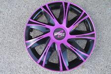 4 Alu-Design Radkappen 14 Zoll pink/schwarz DRACO SPEZIAL