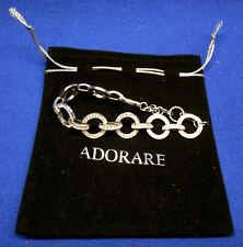 Adorare 925 Sterling Silver Anello Bracelet - Swarovski Crystal.