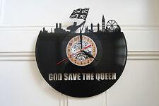 God Save the Queen Vinyl Record Wall Clock bedroom playroom office shop home art