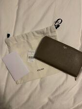 100% Auth Celine Large Leather Long Wallet