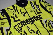 Megatec Harrison Fahrrad Rad Thermo Jacke Jacket Windbreaker NEON Vintage 90er M