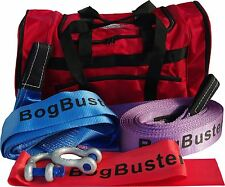 BOGBUSTER SNATCH STRAP RECOVERY KIT EQUALIZER SHACKLES BAG  4X4 4WD WINCH TOW