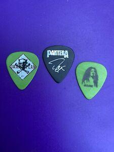 3 Pantera Dimebag Darrell Damageplan Tour Guitar Picks Pick