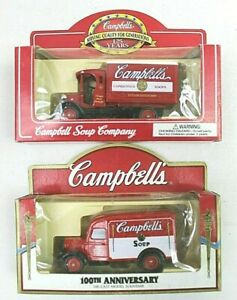 CAMBELL SOUP trucks 1 100 th & 1 125 th anniversary die cast vintage vehicles