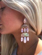 💖🌟NWT Kendra Scott Emmet Earrings in Gold Blush Brown Mix🌟💖