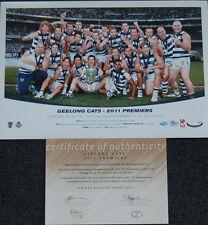 GEELONG 2011 AFL PREMIERS LIMITED EDITION PRINT BARTEL ABLETT SELWOOD HAWKINS