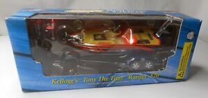Kellogg's Tony The Tiger Ranger 520 Die-Cast Mini Bass Boat & Trailer 1:43 scale