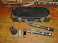 VINTAGE PENZEL MUELLER  CLARINET NEW YORK   Key of B Grenadilla wood