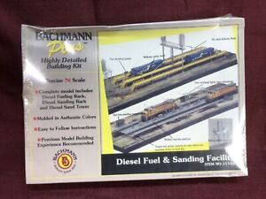 BACHMANN PLUS N SCALE DIESEL FUEL & SANDING FACILITY #15162 HIGHLY DETAILED New!