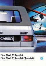 VW GOLF CABRIO Cabriolet I 1 Quartett Classic Prospekt Sales Brochure 1991 12