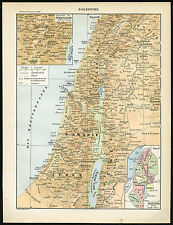 Antique Map-Palestine-Israel-Laro usse-1897