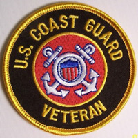 "US Coast Guard  ""US COAST GUARD VETERAN""   PATCH  Iron / Sew-on 3 inch patch"