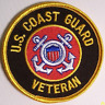 "US Coast Guard  ""US COAST GUARD VETERAN""   PATCH  Iron / Sew-on 3 inch patch"