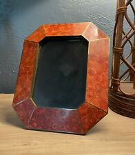 """Vintage Maitland Smith ATTRIB. Tessellated Marble Picture Photo Frame 10.5"""" H"""