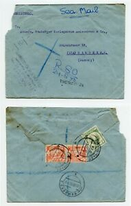 BURMA 1953 Registered Sea Mail Cover to Germany