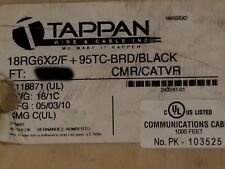 Southwire/Tappan 18RG6X2/F+95%TC-BRD RG-6/U Solid Copper Coaxial Cable Blk/100ft