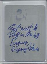 """GREGORY POLANCO 2013 LEAF """"CANT WAIT TO PLAY IN THE BIG LEAGUES"""" AUTO RC 1/1"""