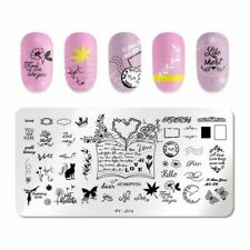Nail Art Stamping Plate Image Decoration Valentines Day Love Hearts Floral PYJ14