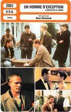 FICHE CINEMA : UN HOMME D'EXCEPTION - Crowe,Harris,Howard 2001 A Beautiful Mind