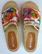 Patrizia By Spring Step Multi-Colored Embroidered Chill Slide size 9