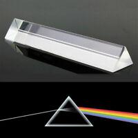 9 cm Licht Spektrum optisches Glasprisma Physik Dreiecksprisma Triangular Prisma